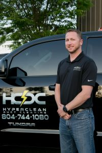 Hyper Clean Duct Cleaning Managing Partner Zachary Sailsbury | 804-744-1080